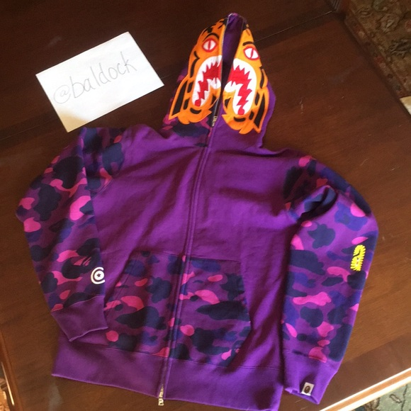 653ce6ad70e7 Purple Bape funthera militia Tiger shark camo